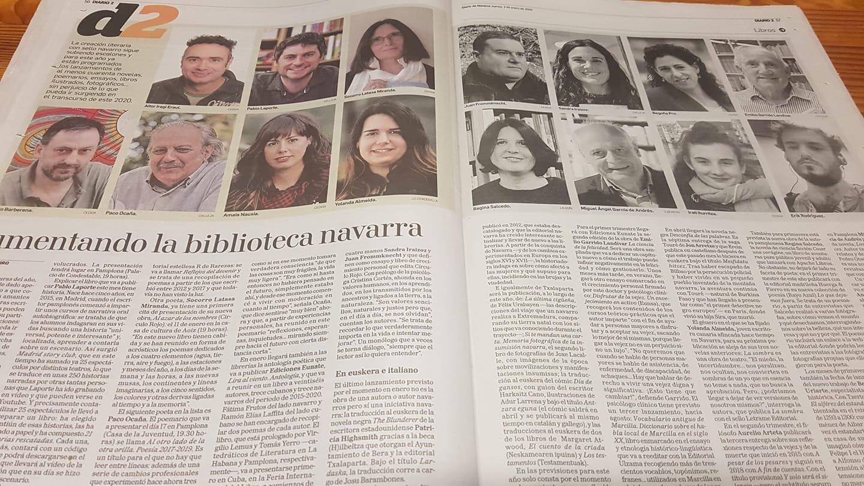 reportaje DN publicaciones navarras 2020